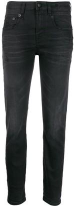 R 13 Stratford denim mid rise skinny jeans