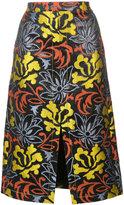 Derek Lam floral jacquard midi skirt
