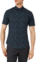 Topman Muscle Fit Bug Print Shirt