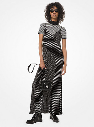 Michael Kors Mixed Dot Matte-Jersey Slip Dress
