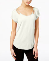 Almost Famous Juniors' Strappy Cutout T-Shirt