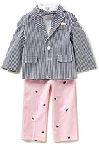 Class Club Little Boys 2T-7 Gingham Nautical 4-Piece Suit Set