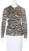 Anna Sui Zebra Button-Up Jacket