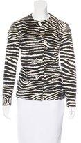 Anna Sui Zebra Button-Up Jacket