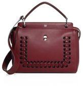 Fendi Dotcom Lace-Up Leather Satchel