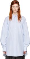 Maison Margiela Blue and White Oversized Shirt