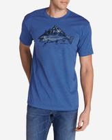 Eddie Bauer Men's Graphic T-Shirt - Trout Mountain Stream