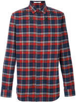 Givenchy plaid embroidered shirt - men - Cotton - 38