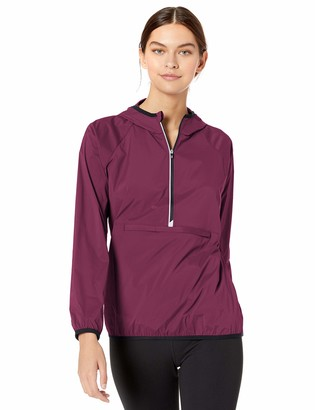 Cutter & Buck Women's Breaker Half Zip Long Sleeve Hooded Popover Jacket