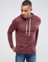 Abercrombie & Fitch Overhead Hoodie Moose Logo In Red