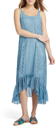Nic+Zoe Petite Santorini Tiles Sleeveless High-Low Maxi Dress