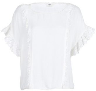 Only ONLCANNA women's Blouse in White