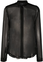 Diesel C-Raily-Rouche sheer shirt