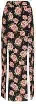 Topshop Vintage rose split maxi skirt