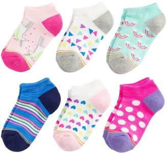 Gold Toe Girls 7-16 GOLDTOE 6-pack Fairytale No-Show Socks