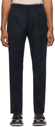 Dries Van Noten Navy Formal Drawstring Trousers