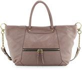 Oryany Jocelyn East-West Leather Shoulder Bag, Mushroom