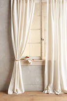 Anthropologie Linen Tie-Top Curtain