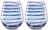Kate Spade Charlotte Street Stemless Wine - Set of 2