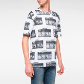 Paul Smith Men's Slim-Fit White Mercerised-Cotton 'Boom Box' Print T-Shirt