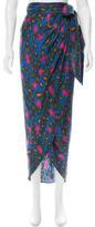 Rachel Zoe Cheetah Print Silk Skirt