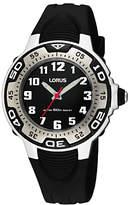 Lorus RG233GX9 Children's Rubber Strap Watch, Black
