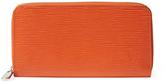 Louis Vuitton Orange Epi Zippy