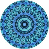 Blue Area Square Wool Light Rug East Urban Home Rug Size: Runner 2' x 5'