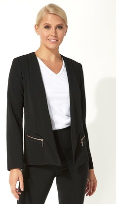 M&Co Roman Originals textured zip detail jacket