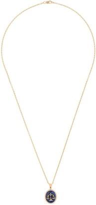O Thongthai Libra 14kt yellow gold lapis lazuli and diamond necklace