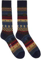 Paul Smith Navy Pattern Socks