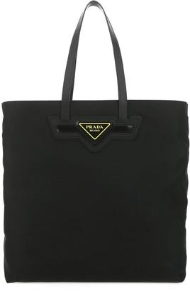 Prada Logo Plaque Shopper Bag