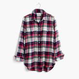 Madewell Flannel Classic Ex-Boyfriend Shirt in Drayton Plaid