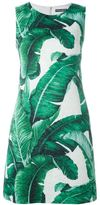 Dolce & Gabbana banana leaf brocade dress - women - Silk/Cotton/Spandex/Elastane - 40