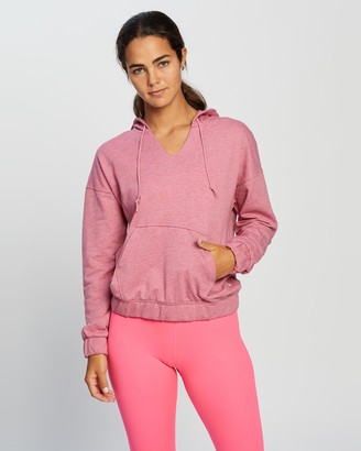 Nike Women's Pink Hoodies - Yoga Core Collection Coverup - Size XS at The Iconic