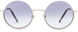 Miu Miu Round Sunglasses in Silver | FWRD
