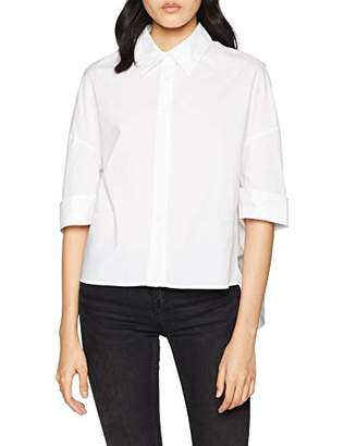 Silvian Heach Women's Adduane Casual Shirt, (White Xw0), 10 (Size: Small)