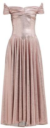 Emilia Wickstead Nicoletta Off-the-shoulder Lame Maxi Dress - Pink