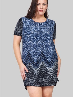 M&Co Izabel Curve abstract knitted tunic dress