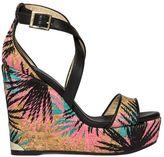 Jimmy Choo Multicolor Portia Wedge Sandals