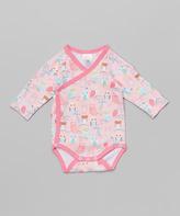 Zutano Blush Owl Wrap Bodysuit - Infant
