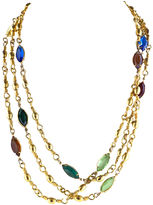 One Kings Lane Vintage Opera Length Open-Back Crystal Necklace