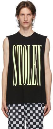 Stolen Girlfriends Club Black Onyx Barcode Razor Sleeveless T-Shirt