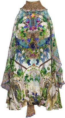 Camilla Moon Garden Neck Tie Short Dress