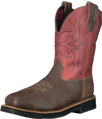 Irish Setter Work Women's Walker Safety Toe Western Boot Brown/Burgundy 9.5 D US
