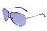 Calvin Klein Purple & Silver Aviator Sunglasses - Women