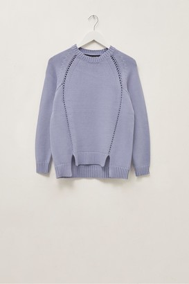 French Connection Vedette Ladder Stitch Crew Neck Jumper