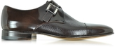 Moreschi Nancy Dark Brown Peccary Leather Monk Strap Shoe