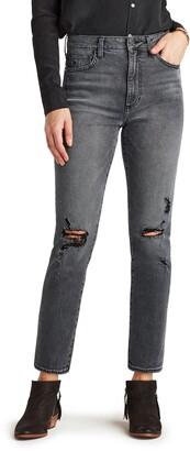 Sam Edelman The Stiletto Destroyed Knee Straight Leg Jeans