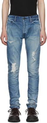 John Elliott Indigo Paint Cast 2 Jeans